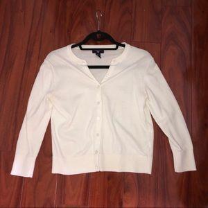 Gap women's cardigan 3/4 sleeve in white
